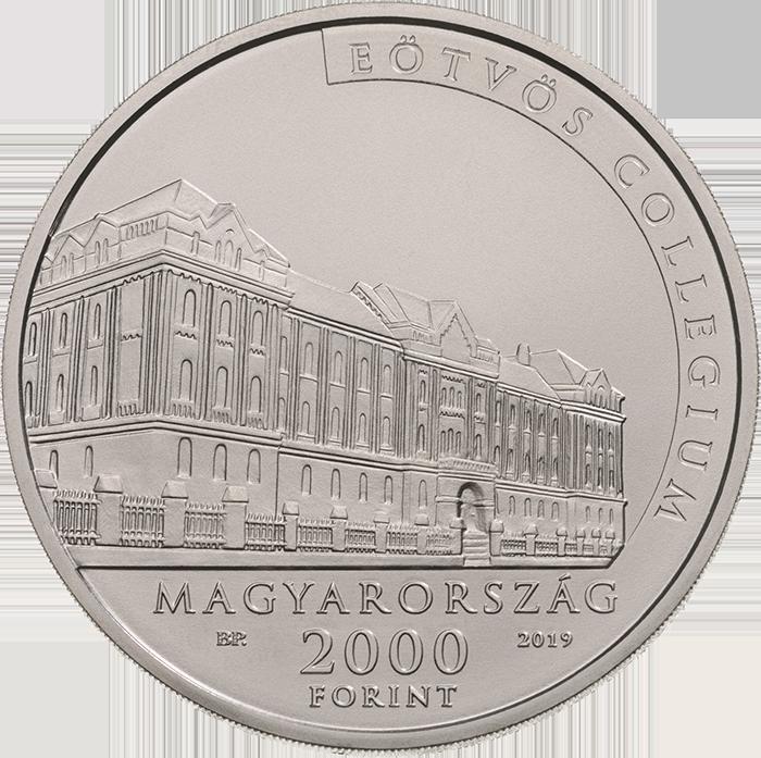 Венгрия монета 2 000 форинтов 100-летие со дня смерти Лоранда Этвеша, аверс