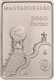 Венгрия монета 2000 форинтов 150 лет со дня основания Геологического института, аверс