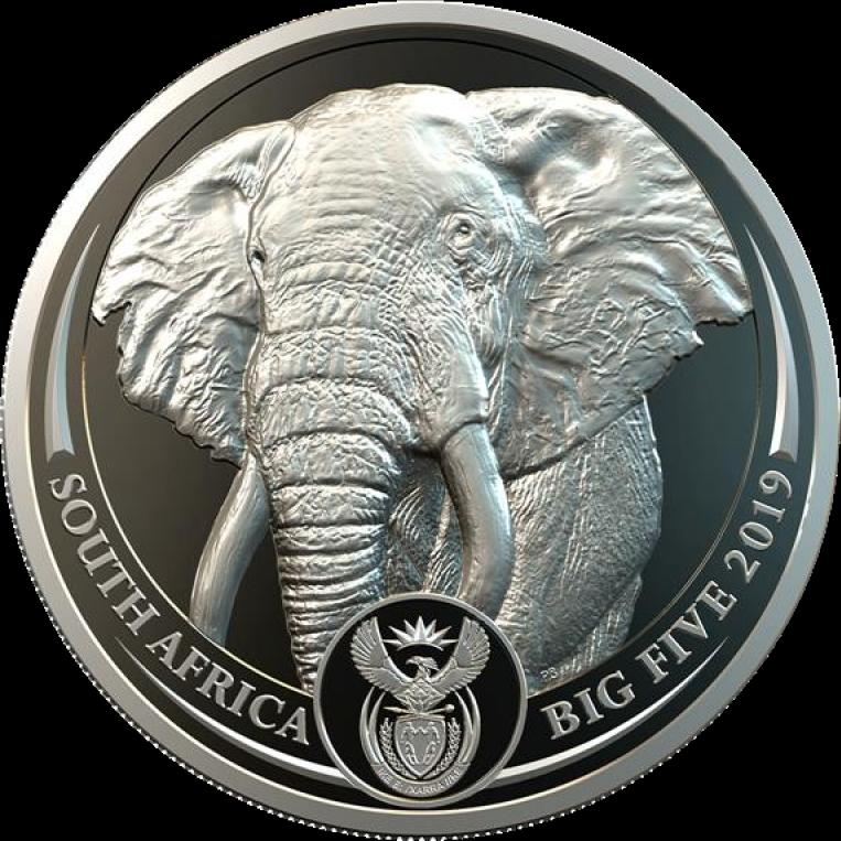 ЮАР монета 20 рэндов Слон, аверс