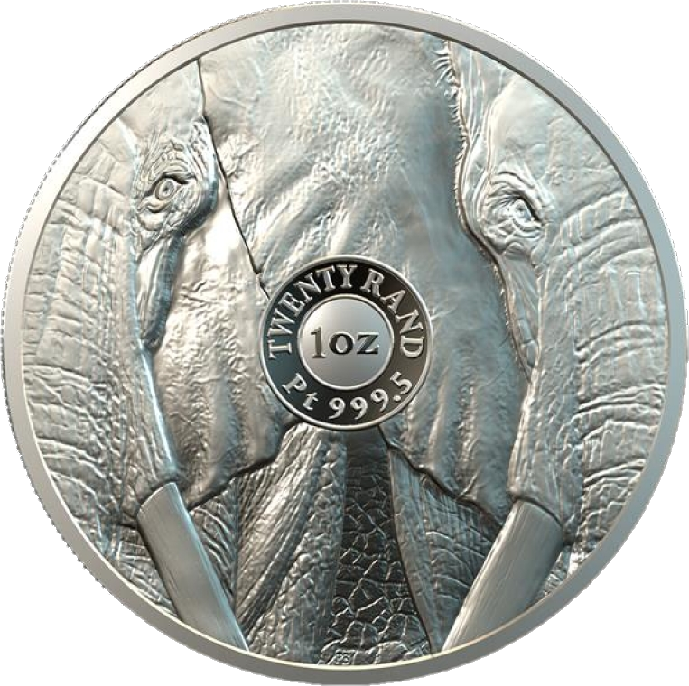 ЮАР монета 20 рэндов Слон, реверс