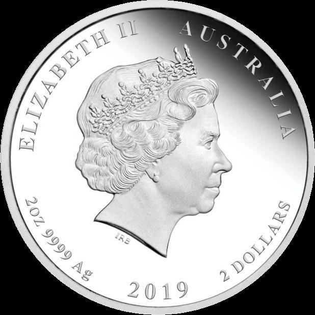 Австралия монета 2 доллара Год Свиньи, аверс