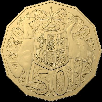 Австралия монета 50 центов к 50-летию выхода монета 50 центов, аллюминиевая бронза, реверс