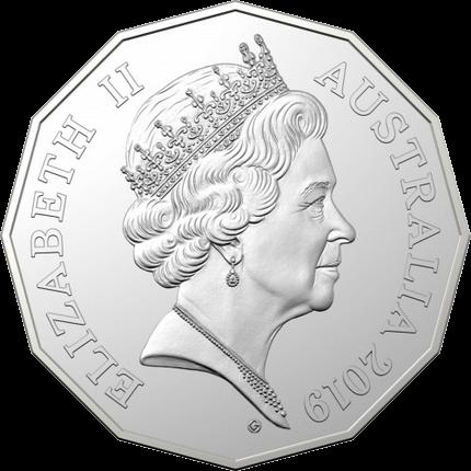Австралия монета 50 центов к 50-летию выхода монета 50 центов, G