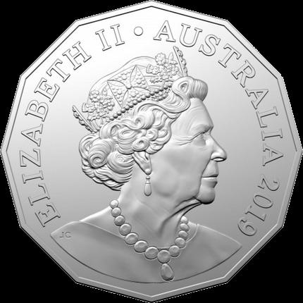 Австралия монета 50 центов к 50-летию выхода монета 50 центов, JC