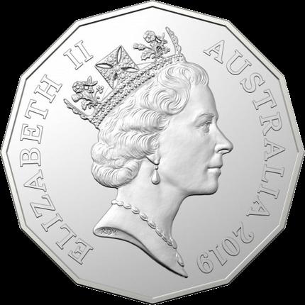 Австралия монета 50 центов к 50-летию выхода монета 50 центов, RDM