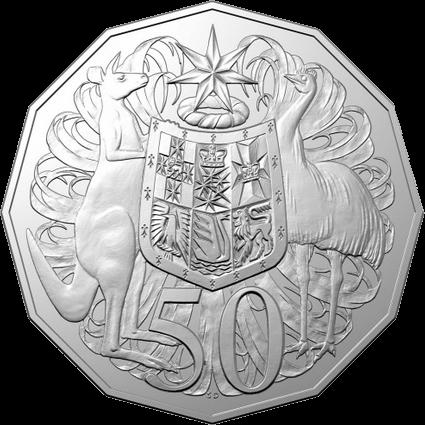 Австралия монета 50 центов к 50-летию выхода монета 50 центов, реверс