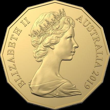 Австралия монета 50 центов к 50-летию выхода монета 50 центов