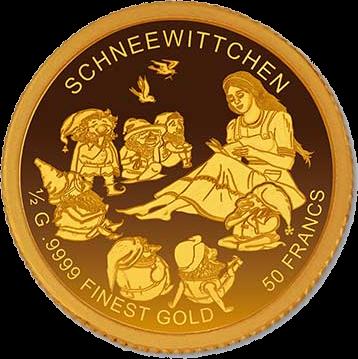 Бурунди монета 50 франков, Белоснежка, реверс