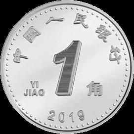 Китай циркуляционная монета 1 юань, аверс