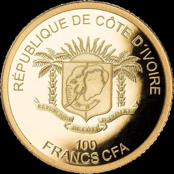 Кот-д'Ивуар монета 100 франков КФА, 2019 год, аверс