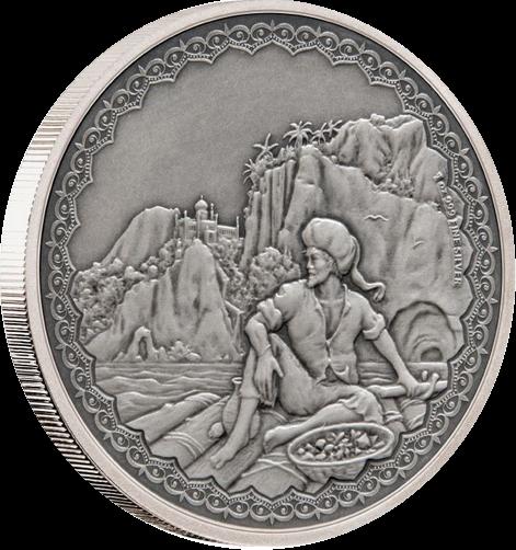 Ниуэ монета 2 доллара Синбад, реверс