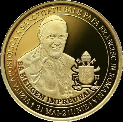 Румыния монета 500 лей Папа Римский в Румынии, реверс
