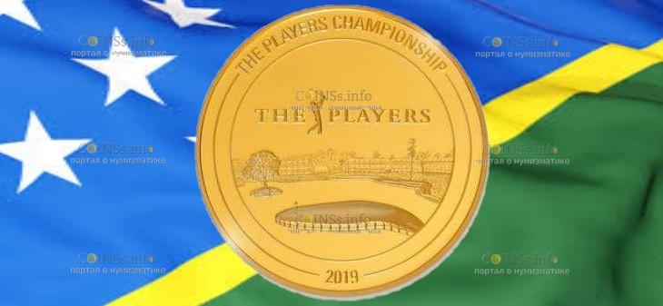 Соломоновы острова монета 25 долларов Чемпионат игроков
