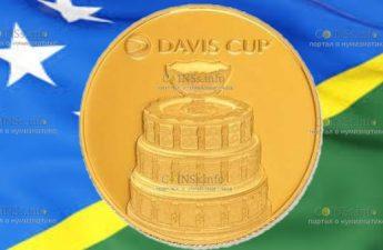 Соломоновы острова монета 25 долларов Кубок Девиса