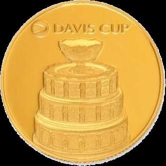 Соломоновы острова монета 25 долларов Кубок Девиса, реверс