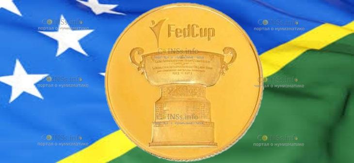 Соломоновы острова монета 25 долларов Кубок Федераций