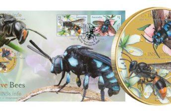 Тувалу монета 1 доллар Пчелы