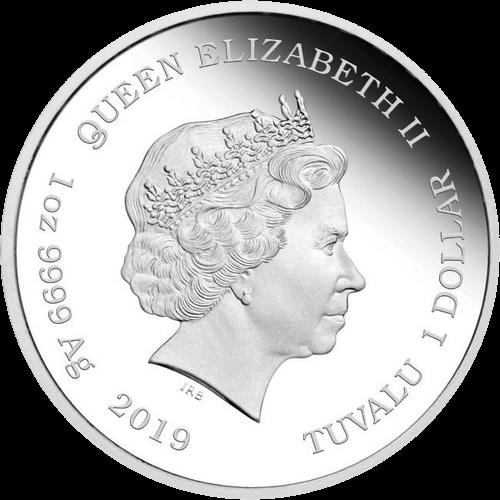 Тувалу монета 1 доллар Симпсоны, аверс