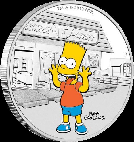 Тувалу монета 1 доллар Симпсоны, реверс