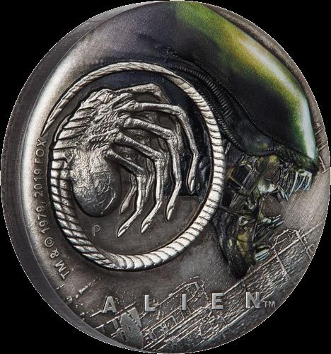 Тувалу монета 2 доллара Чужой, реверс