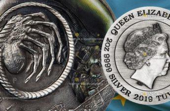 Тувалу монета 5 долларов Чужой