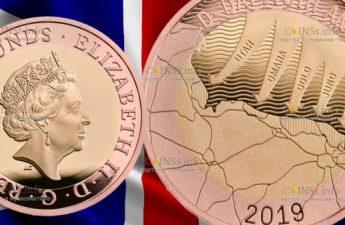 Великобритания монета 2 фунта День Д, золото