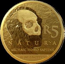 ЮАР монета 5 рендов Человек разумный, реверс