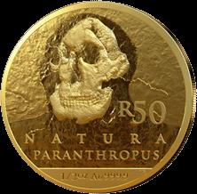 ЮАР монета 50 рендов Человек разумный, реверс