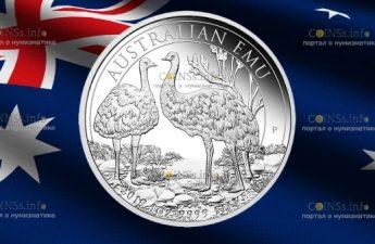 Австралия монета 1 доллар Австралийский Эму