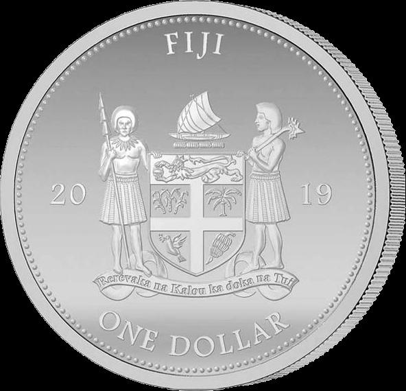 Фиджи монета 1 доллар 2019 год
