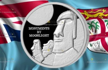 Фиджи монета 1 доллар остров Пасхи
