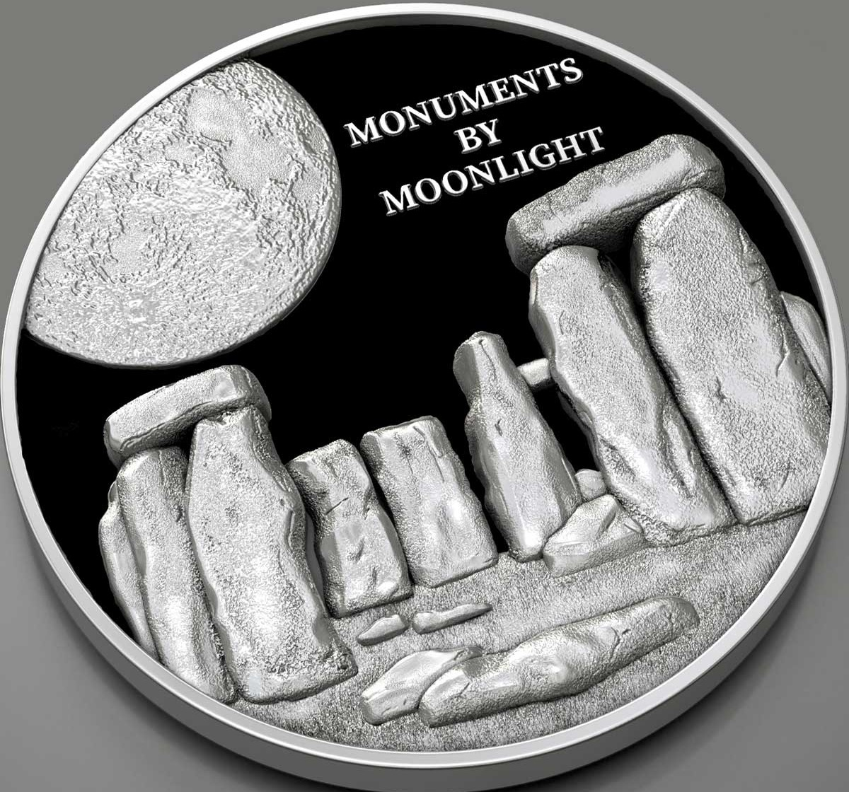 Фиджи монета 1 доллар Стоунхендж, реверс