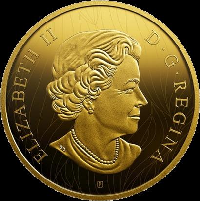Канада монета 100 долларов Лев, аверс