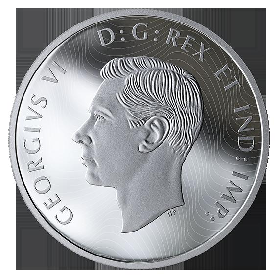 Канада монета 125 долларов Операция Тонга, аверс