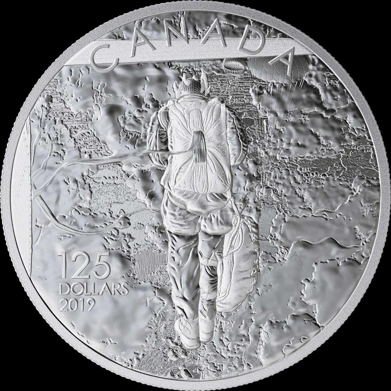 Канада монета 125 долларов Операция Тонга, реверс