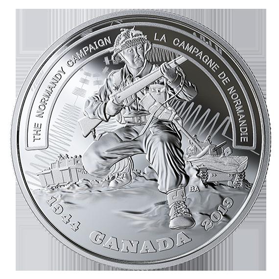 Канада монета 20 долларов Нормандская компания, реверс