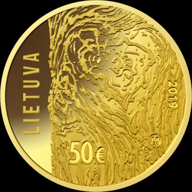Литва монета 50 евро Движение по борьбе за свободу Литвы, аверс