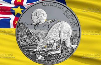Ниуэ монета 1 доллар Кенгуру
