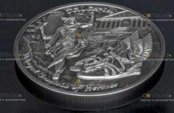Ниуэ монета 10 долларов Крылатые сандалии Гермеса