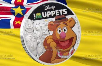 Ниуэ монета 2 доллара Маппеты