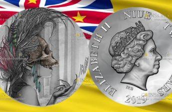 Ниуэ монета 2 доллара Темные Красавицы - Иванесса
