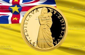 Ниуэ монета 5 долларов Святая Здислава