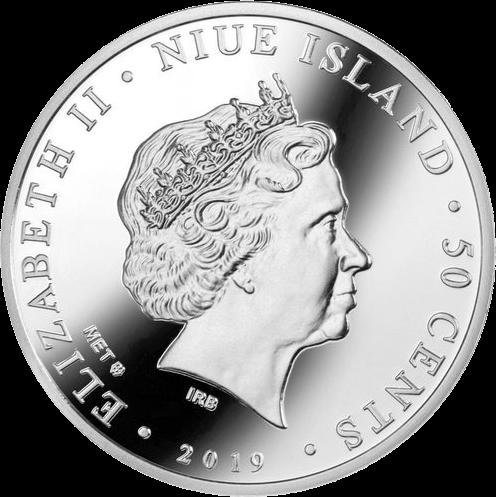 Ниуэ монета 50 центов Свадебные 50 центов, аверс