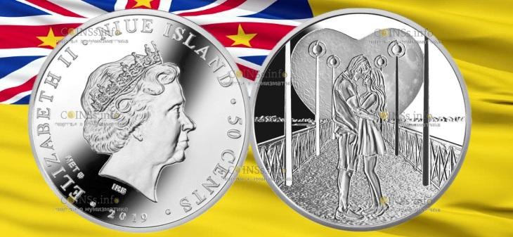 Ниуэ монета 50 центов Свадебные 50 центов