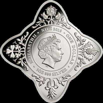 Ниуэ монета один доллар 80 лет первого королевского визита, аверс