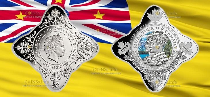 Ниуэ монета один доллар 80 лет первого королевского визита