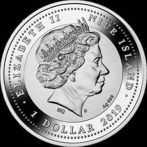 Ниуэ монета Свадебный 1 доллар, аверс