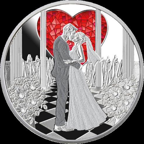 Ниуэ монета Свадебный 1 доллар, реверс