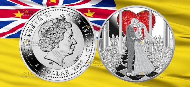 Ниуэ монета Свадебный 1 доллар