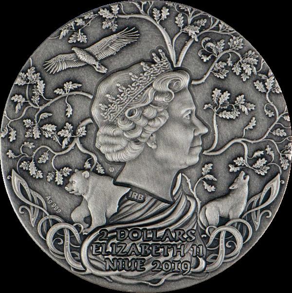Ниуэ выпускают монету 2 доллара Святовит, аверс